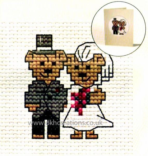 Bride And Groom  Card Cross Stitch Kit